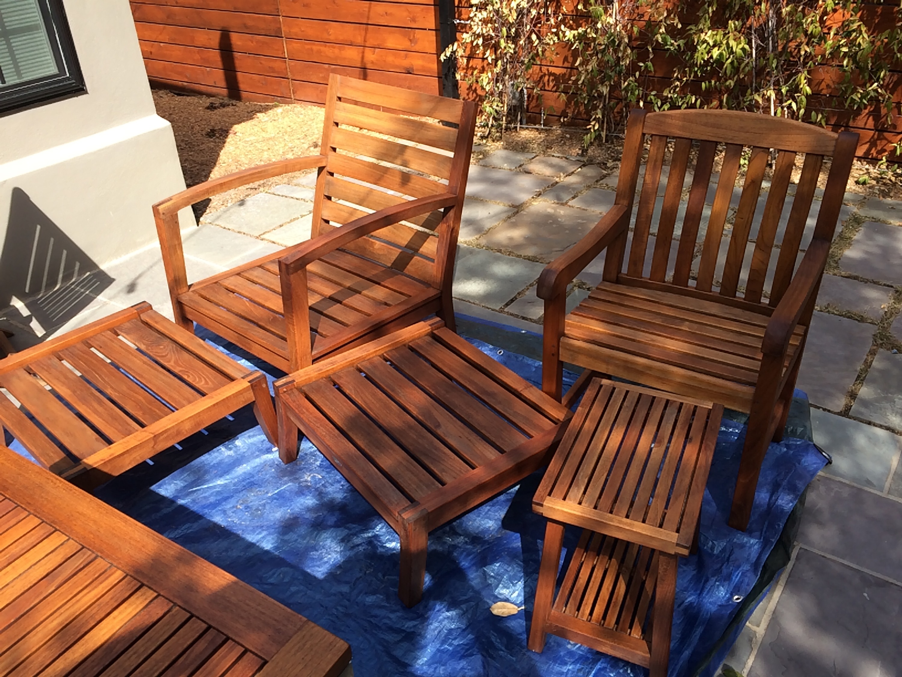 Oxidized, Grey Dried Out Teak Furniture Brought Back To Life With Linseed  Oil! I Cleaned The Furniture With Organic Linseed Oil Soap And Nurished The  Teak ...
